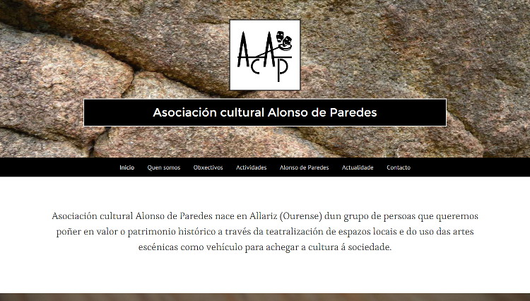 Páxina web ACAP - Sendadixital