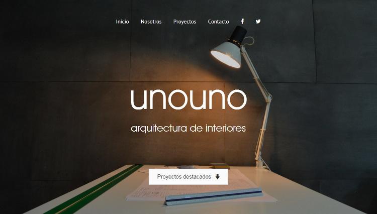 Página web Unouno - Sendadixital