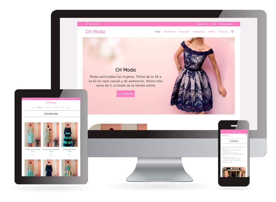 Comercio electrónico CH Moda Verín - Sendadixital