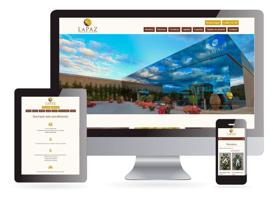Diseño web Funeraria La Paz Verín - Sendadixital