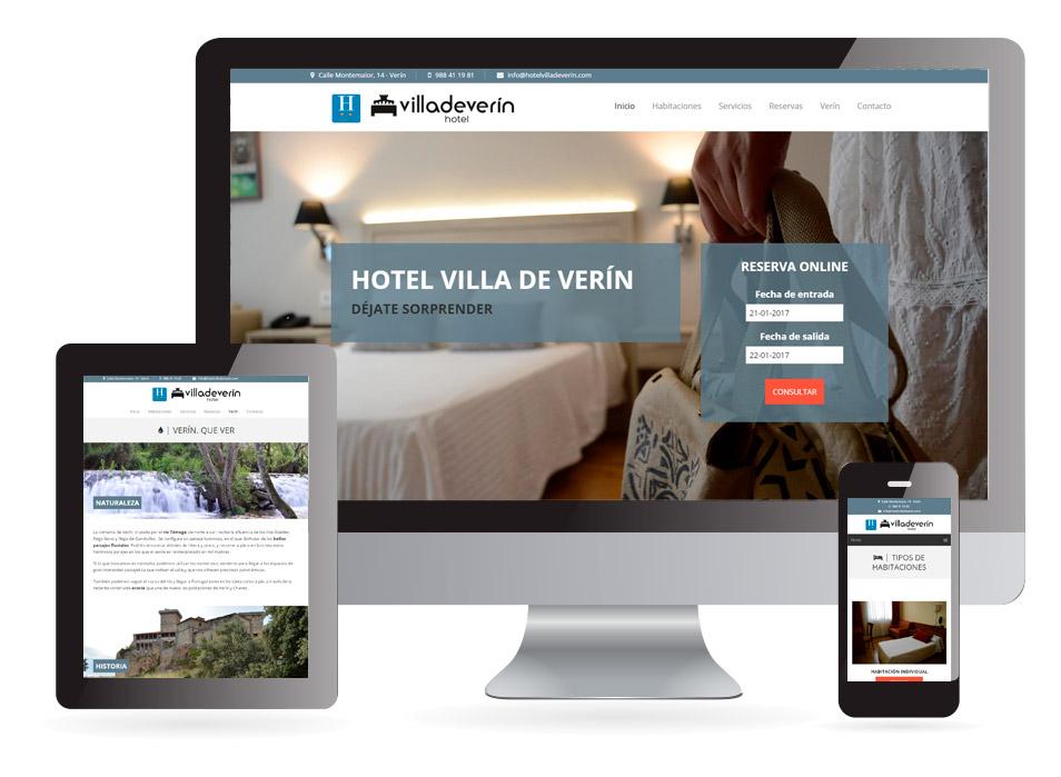 Diseño web Hotel Villa de Verín - Sendadixital