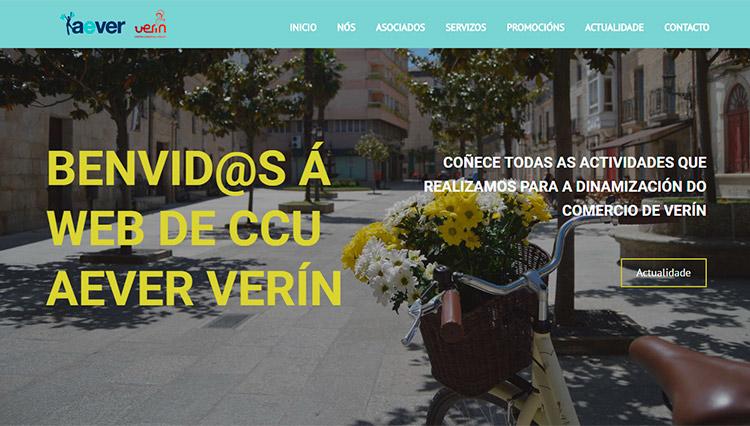Páxina web Aever Verín - Sendadixital