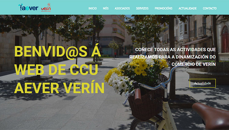 Página web Aever Verín - Sendadixital