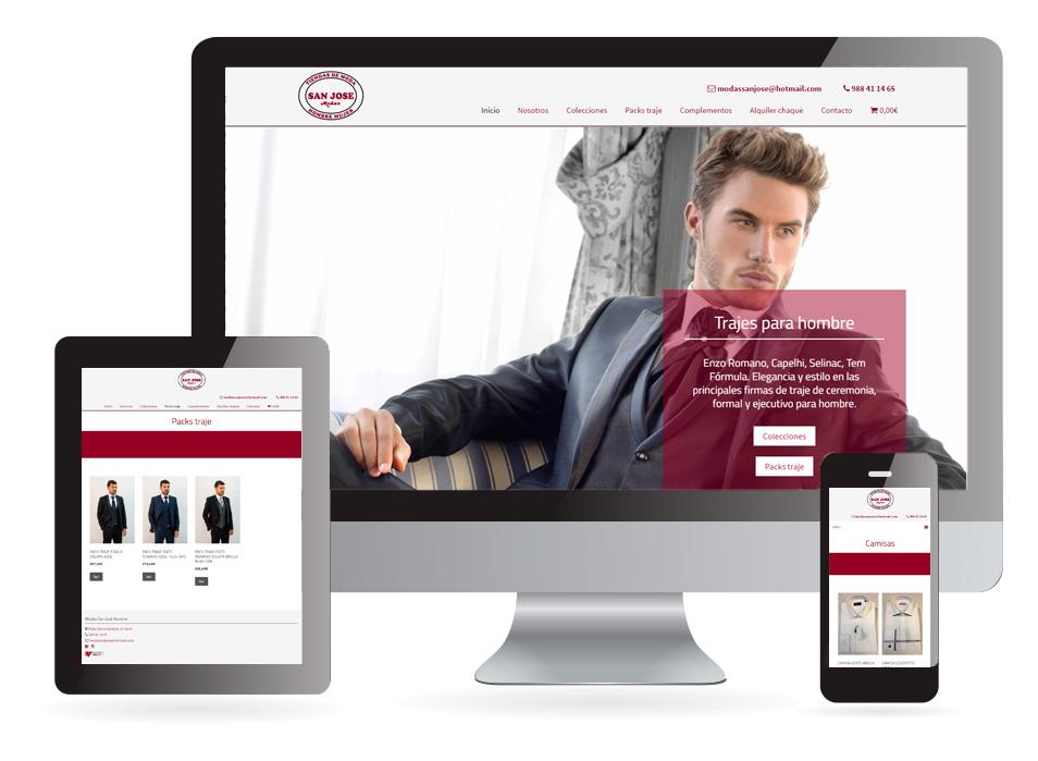 Diseño web Modas San José Verín - Sendadixital