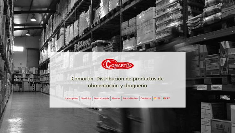 Páxina web Comartin - Sendadixital