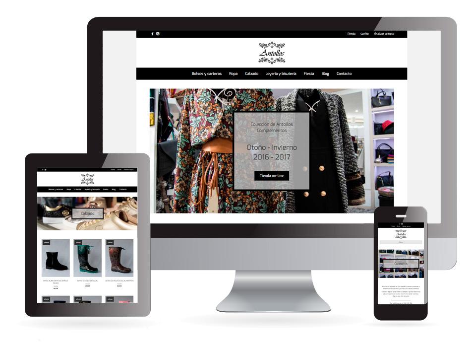 Diseño web Antollos Complementos Verín - Sendadixital
