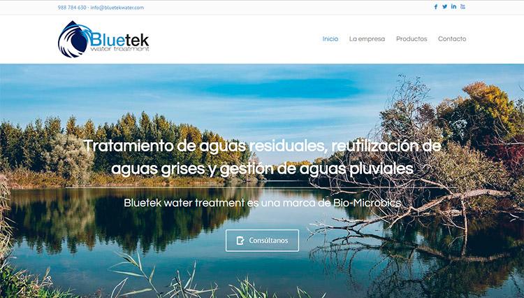 Desarrollo web Bluetek water