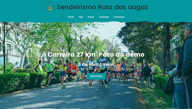 Página web Ruta das augas Verín