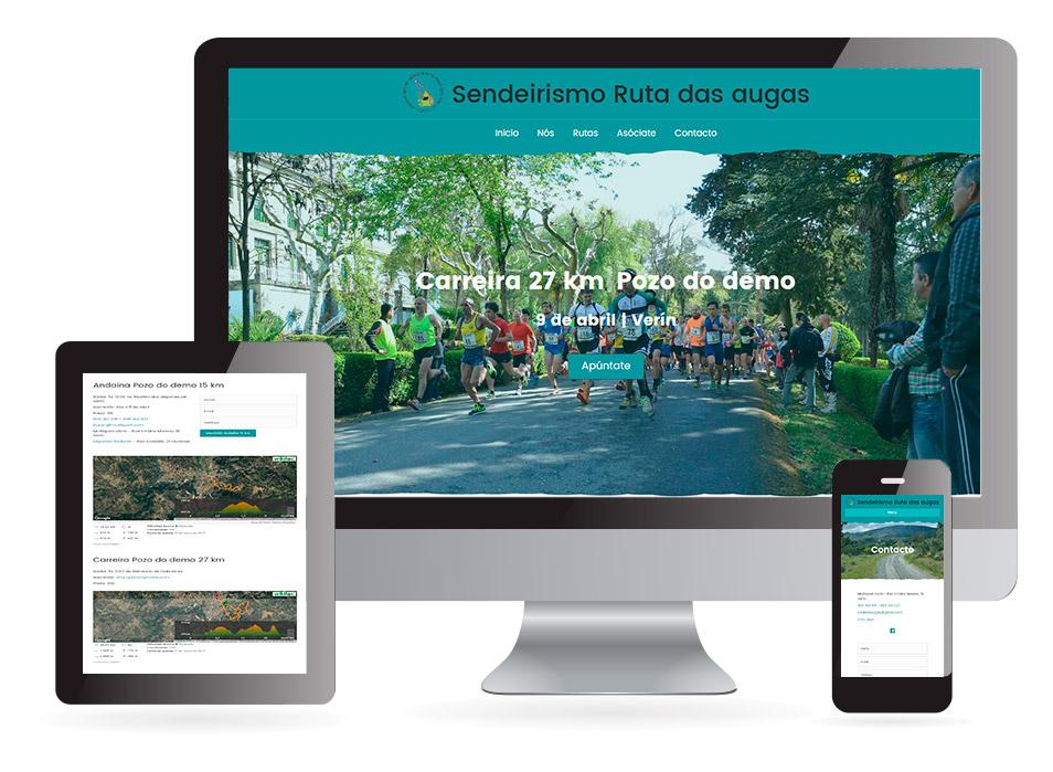Página web Ruta as augas Verín