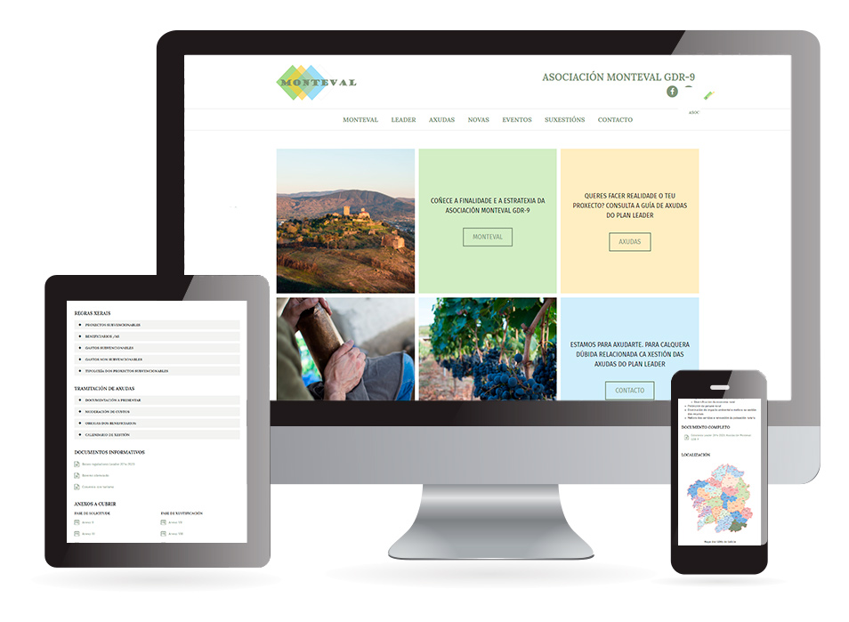 Página web Monteval - Sendadixital