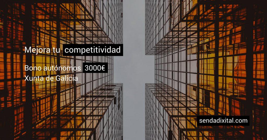 Mejora tu competitividad: hasta 3.000€ con el bono para autónomos de la Xunta de Galicia