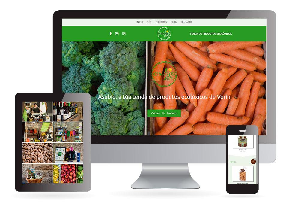 Página web Asubío Verín