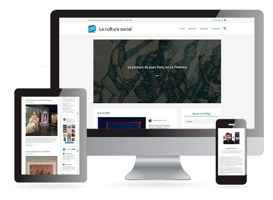 Página web La cultura social - Sendadixital