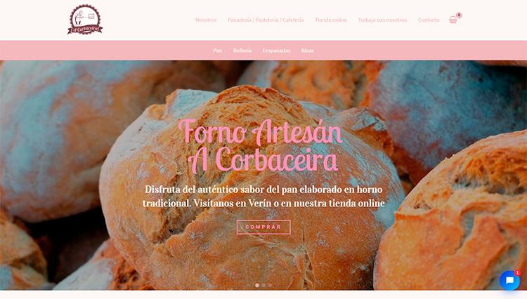 Página web A Corbaceira - Sendadixital