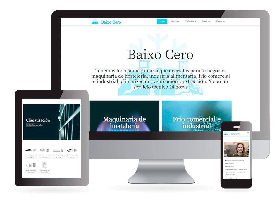 Páxina web Baixo Cero Verín