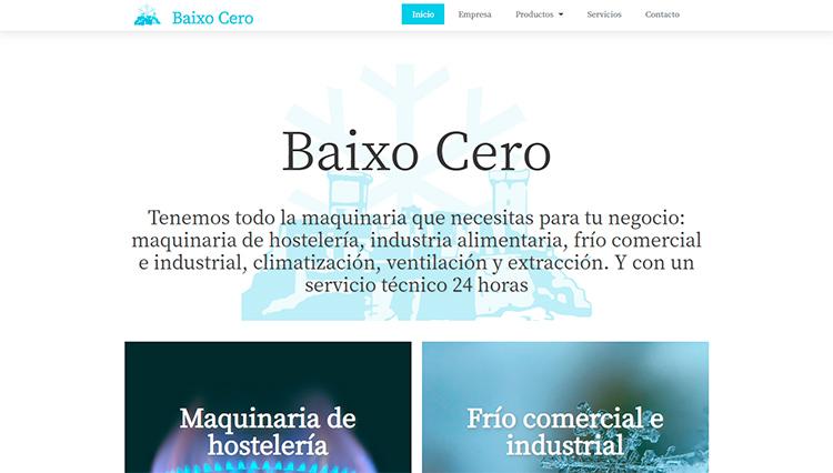 Página web Baixo Cero