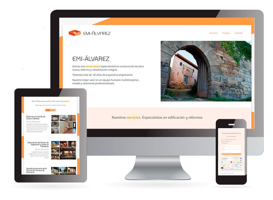 Página web Construcciones EMI-ÁLVAREZ Verín