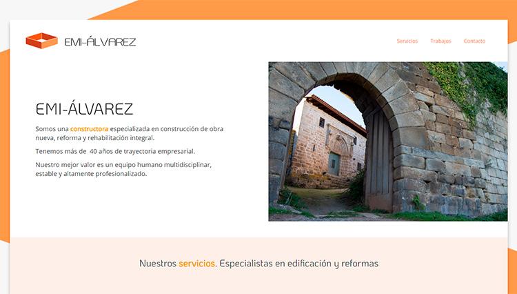 Página web Construcciones EMI-ÁLVAREZ - Sendadixital