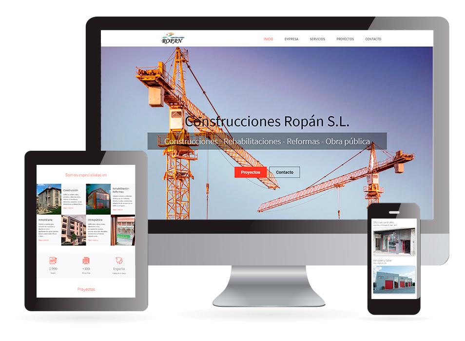 Página web Construcciones Ropán