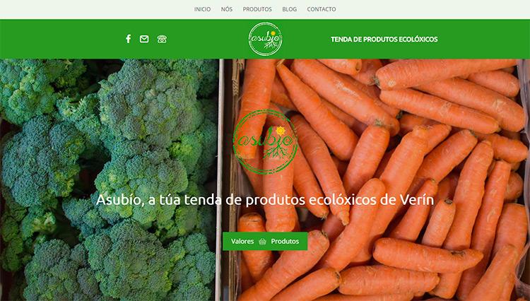 Páxina web Asubío - Sendadixital