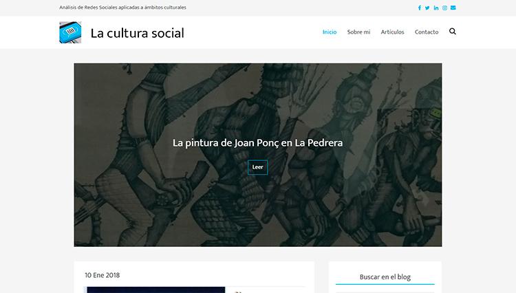 Páxina web La Cultura Social - Sendadixital